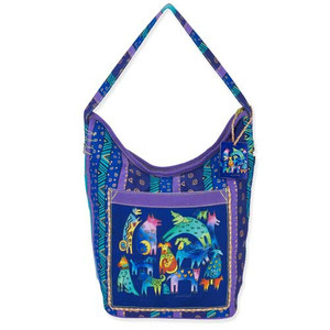 Laurel Burch Mythical Dogs Hobo Bag