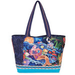 Laurel Burch Ocean Song Shoulder Tote