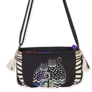Laurel Burch Feline Crossbody Bag Stripe