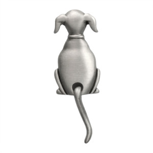 Dog Swinging Tail Pin Pewter 1044CP