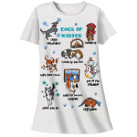 "Winter Christmas Dog Theme Sleep Shirt Pajamas ""Winter Dog"" 00536T"