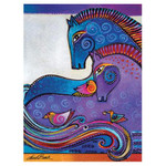Laurel Burch Canvas Aquatic Mares Horses 12x16 Wall Art LB26009