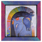 Laurel Burch 3-D Mares Embracing Horses 8x8 Wall Art LB26016