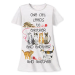 One Cat to More Cats Theme Sleep Shirt Pajamas 339OT