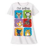 Cat Selfie Theme Sleep Shirt Pajamas 618OT