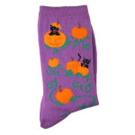 Pumpkin Cats Socks - Purple- 14077