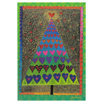 Laurel Burch Christmas Tree Card Single - CCC24633