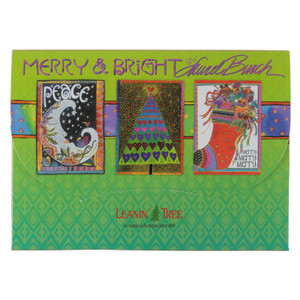 "Laurel Burch Christmas Card Assortment - 20 cards ""Merry and Bright"" - AST90287"