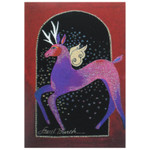 Laurel Burch Christmas Card Glitter Deer 10 Card Box C73759