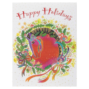 Laurel Burch Horse Love Christmas Cards 12 Pack N92511