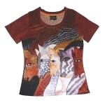 Laurel Burch Tee Shirt Moroccan Mares LBT036