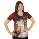 Laurel Burch Tee Shirt Morocan Mares LBT036