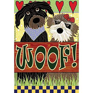WOOF Dog Garden Flag JFL069