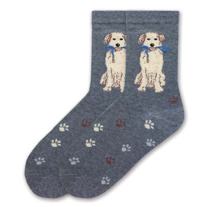 "Dog Socks ""Ready to Walk"" Charcoal KBWF15H012-01"