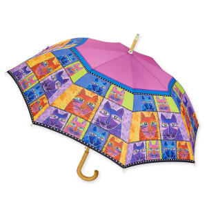 Laurel Burch Stick Umbrella Whisker Cats -  LBU008S