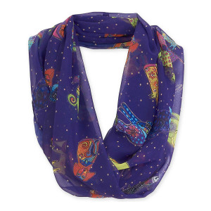 Laurel Burch Dog & Doggies Artistic Infinity Scarf LBI204