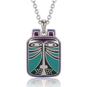 Toshio Laurel Burch Necklace Blue Multi 5004