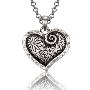 Blooming Heart Laurel Burch Necklace 6092