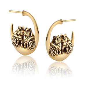 Rainbow Cats Gold Laurel Burch Earrings 4049