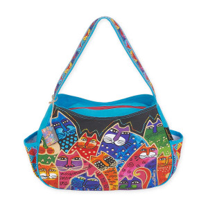 Laurel Burch Whiskered Family Medium Hobo LB5603