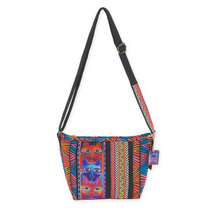 Laurel Burch Stacked Whiskered Cats Crossbody LB5643