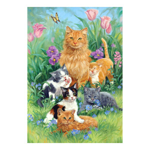 Meadow Fun Kittens Cats Garden Flag - 119477