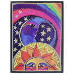 Laurel Burch Birthday Card Adventure Sun Moon - BDG11969