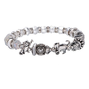Cat Beads Crystal Bracelet - B2362
