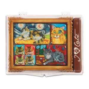 Long Hair Cat Art 6 Magnet Set 12001