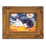 Tuxedo Van Meow Paw Palettes Canvas Wall Art 12059