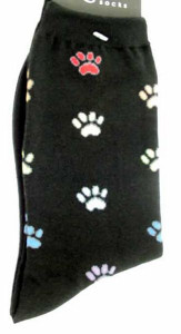 "Cat Socks ""Pawprints"" - Black - 61323"