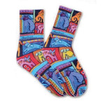 Laurel Burch Colorful Dogs Crew Socks LBWS16H051-01