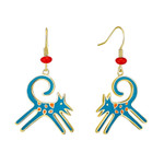 Felicity Blue Laurel Burch Earrings - 5081