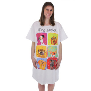 Dog Selfie Theme Sleep Shirt Pajamas 619OT