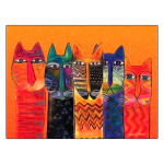 Laurel Burch Cats with Long Necks Blank Card 17048