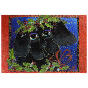 Laurel Burch Puppy Love Christmas Card 10 Card Box C73907