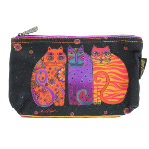 Laurel Burch Feline Friends 10x6 Cosmetic Bag LB5334C (LB5334C)