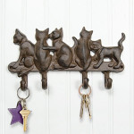 "Cat Metal Wall 10"" Hook 14353"