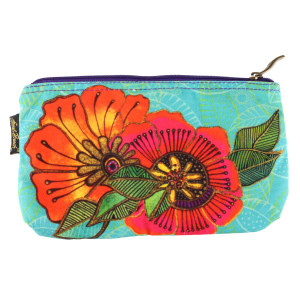 Laurel Burch 10x6 Cosmetic Bag Colorful Flora Floral LB5824C
