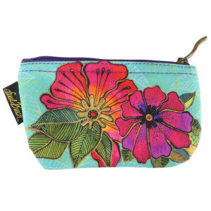 Laurel Burch 7x4 Cosmetic Bag Colorful Flora Floral LB5824A