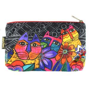 Laurel Burch 10x6 Cosmetic Bag Mara Cat LB5854C
