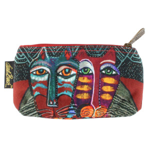 Laurel Burch 7x4 Cosmetic Bag Gatos Cat LB5874A