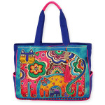 Laurel Burch Bohemian Whiskers Cats Oversized Tote