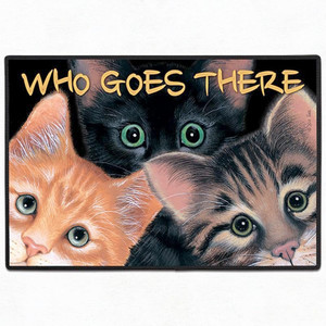 Three Cats Welcome Floor Mat Doormat - FE-X29