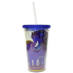 Laurel Burch Indigo Mares Horses Acrylic 16oz Tumbler Lid Straw - 26042
