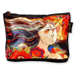 Laurel Burch 10x6 Foil Cosmetic Bag Mikayla