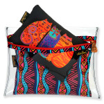 Laurel Burch Set of 3 Cosmetic Bag Feline Friends