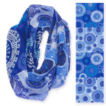 Laurel Burch Got the Blues Artistic Infinity Scarf