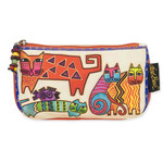 Laurel Burch 7x4 Cosmetic Bag Karlys Cat Floating
