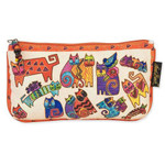 Laurel Burch 9x5 Cosmetic Bag Karlys Cat Floating LB5337B